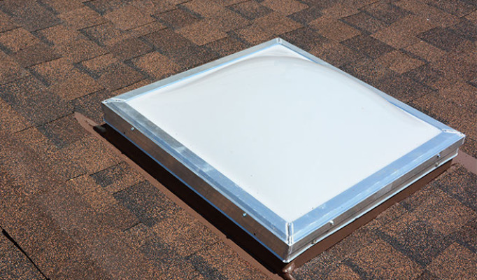 Traditional 2'x 4′ acrylic skylight