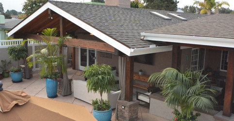 Custom patio and roof with high grade TL shingle in University City