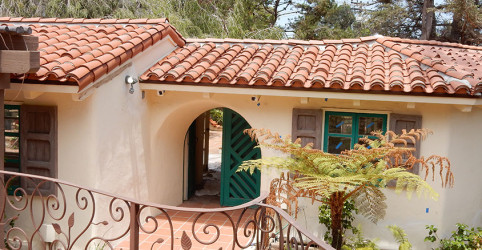 2-piece clay tile on a 1920's hacienda in Point Loma