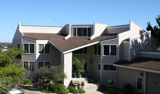 Residential cool roof, new Hardie siding, all new wood trim & custom metal wall caps in Ramona.