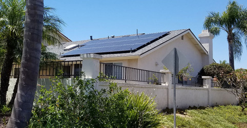 Roof and solar system in Rancho Penasquitos