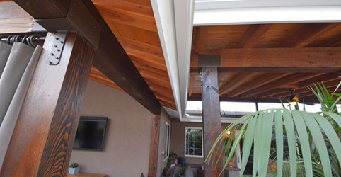 Showing how air patio meets the patio that extends from the roof